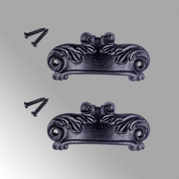 Cabinet or Drawer Bin Pull Black Iron Cup 4 W x 1 12 H Pack of 2 Cabinet Pull Cabinet Hardware Cabinet Pulls