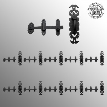 <PRE>Wrought Iron Colonial Style Door Latch Lock Set Of 10</PRE>zoom2