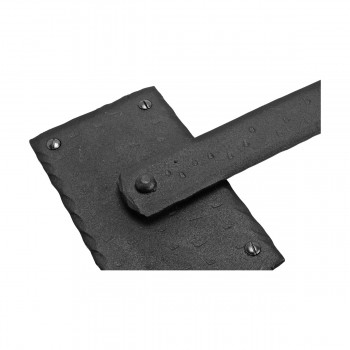 <PRE>2 Lift Gate Lock Black Wrought Hand Forged Iron Gate Latch 12 Inch </PRE>zoom10