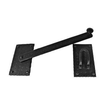 <PRE>2 Lift Gate Lock Black Wrought Hand Forged Iron Gate Latch 12 Inch </PRE>zoom6