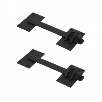 <PRE>2 Lift Gate Lock Black Wrought Hand Forged Iron Gate Latch 12 Inch </PRE>