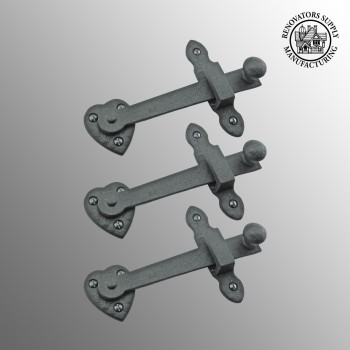 "<PRE>3 Gate Latch Heavy Black Wrought Iron Set 4inch X 6-3/8"" </PRE>zoom2"