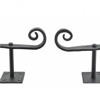 <PRE>Shutter Dog Rat Tail Hand Forged Iron Black Rustproof Finish Pair</PRE>zoom3