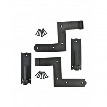 6 Pairs Shutter Hinge Wrought Iron 6 H x 6 12 W Wrought Cast Black Window Door Gate Lift Off LiftOff Pintel Pintle Pair Hinges Exterior Use Swivel Hinge