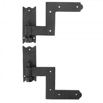 6 Pairs Shutter Hinge Wrought Iron 6 H x 6 12 W Wrought Cast Black Window Door Gate Lift Off LiftOff Pintel Pintle Pair Hinges Exterior Use Swivel Hinge