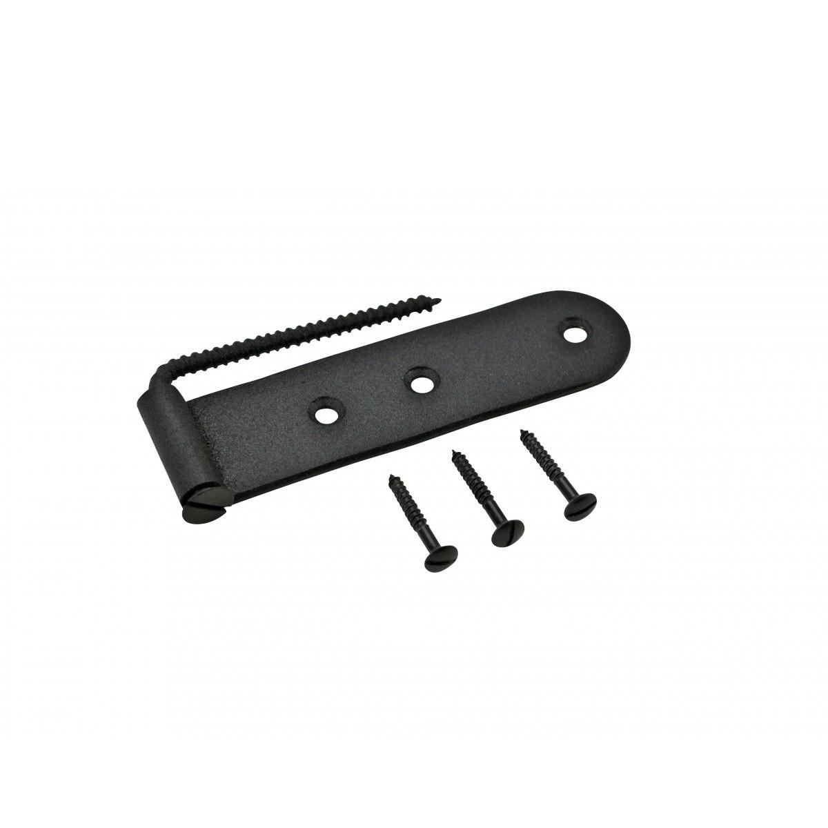 6 Shutter Strap Hinge Black Steel Galvanized Shutter Dog Hinge Shutter Hardware Shutter Dogs