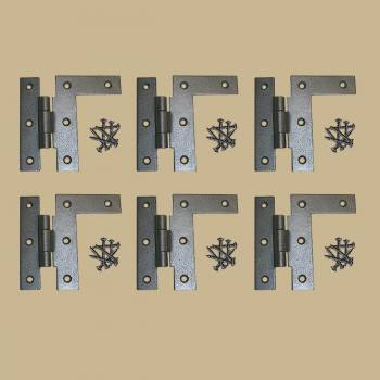 <PRE>6  Offset H-L Cabinet Hinge Black Wrought Iron Left 3 1/2inch H | RS</PRE>zoom2