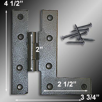 spec-<PRE>6 Left HL-Hinges Black Wrought Iron Offset Install Set of 6 </PRE>