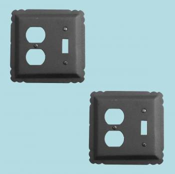 2 Switchplate Black Wrought Iron ToggleDuplex Switch Plate Wall Plates Switch Plates
