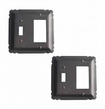 2 Switchplate Black Wrought Iron SWITCH COVER, GFI/SWITCH 5 1/4 in.