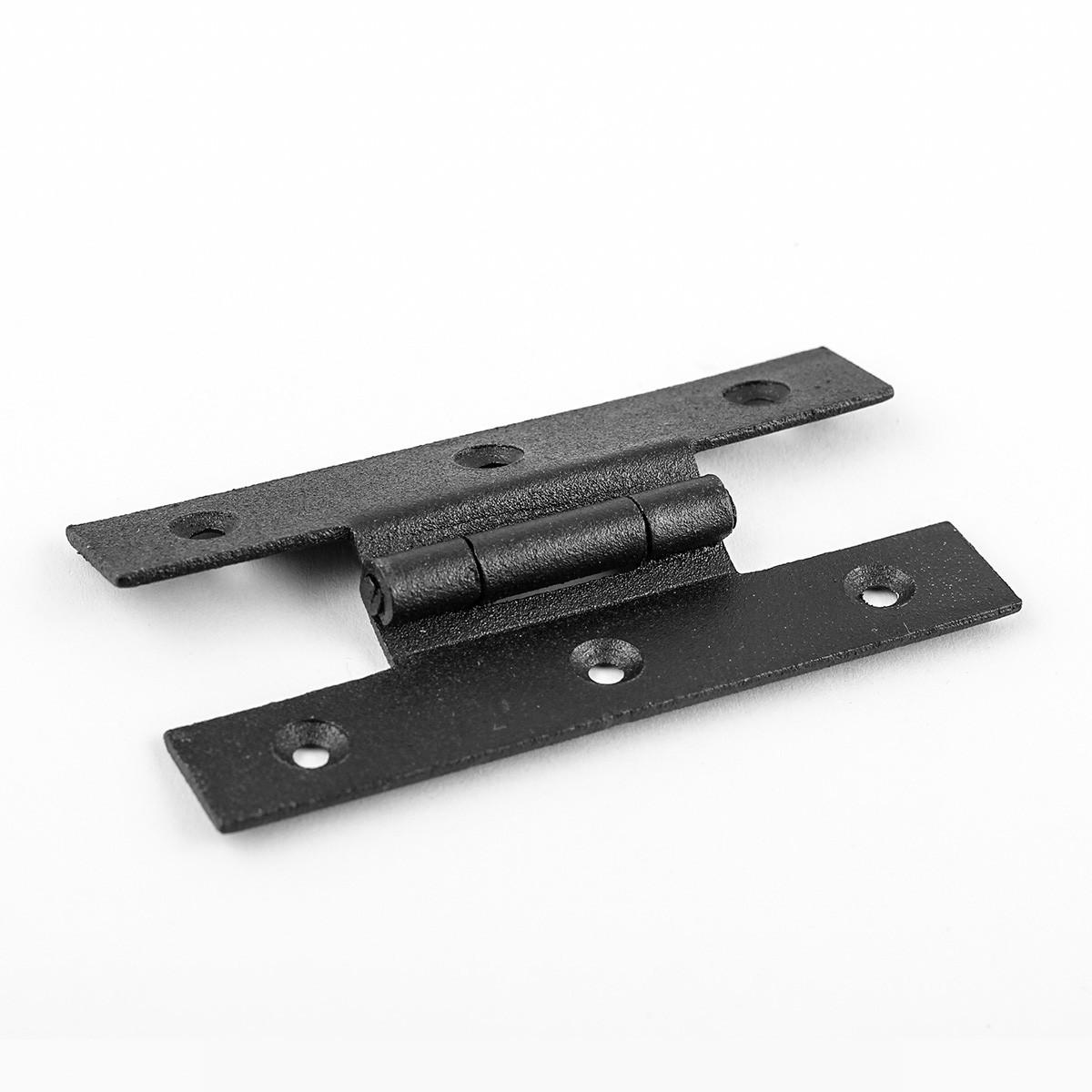 Black Cast Iron H-Style Hinges