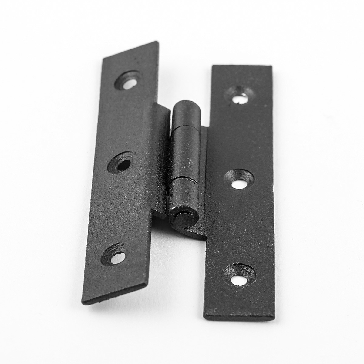 "Cast Iron Cabinet H Hinge Style 3 1/2"" H 3/8"" Offset Set of 2"