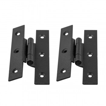 2 Hinge Black Wrought Iron H Black 3 1/2 in. H 3/8 Of