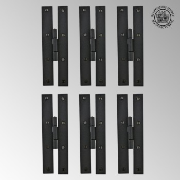 <PRE>6 Forged Iron Door Flush Hinge H Style 7inch H </PRE>zoom2
