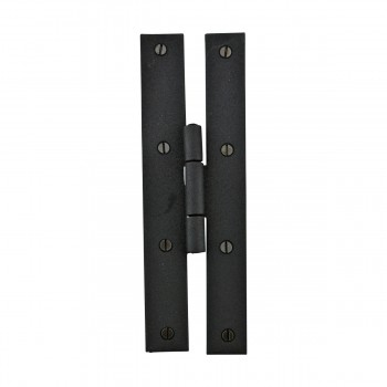 <PRE>6 Forged Iron Door Flush Hinge H Style 7inch H </PRE>zoom4