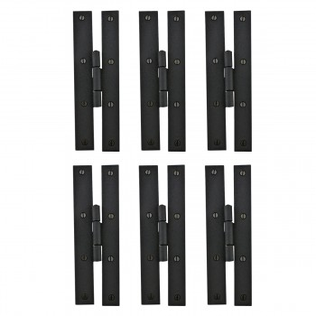 <PRE>6 Forged Iron Door Flush Hinge H Style 7inch H </PRE>zoom1