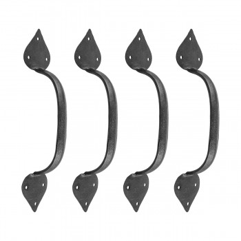 <PRE>4 Heart Door Pulls Black Wrought Iron 10inchH </PRE>zoom1