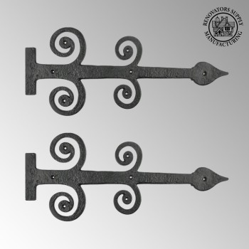 <PRE>2 Decorative Heavy Iron Door Strap Hinge Spade 16inch Long </PRE>zoom2