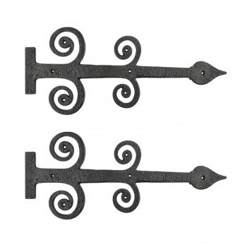 <PRE>2 Decorative Heavy Iron Door Strap Hinge Spade 16inch Long </PRE>zoom1