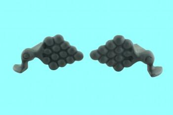 <PRE>Pair Shutter Dog Wrought Iron Grape Vine Masonry Mount </PRE>zoom2