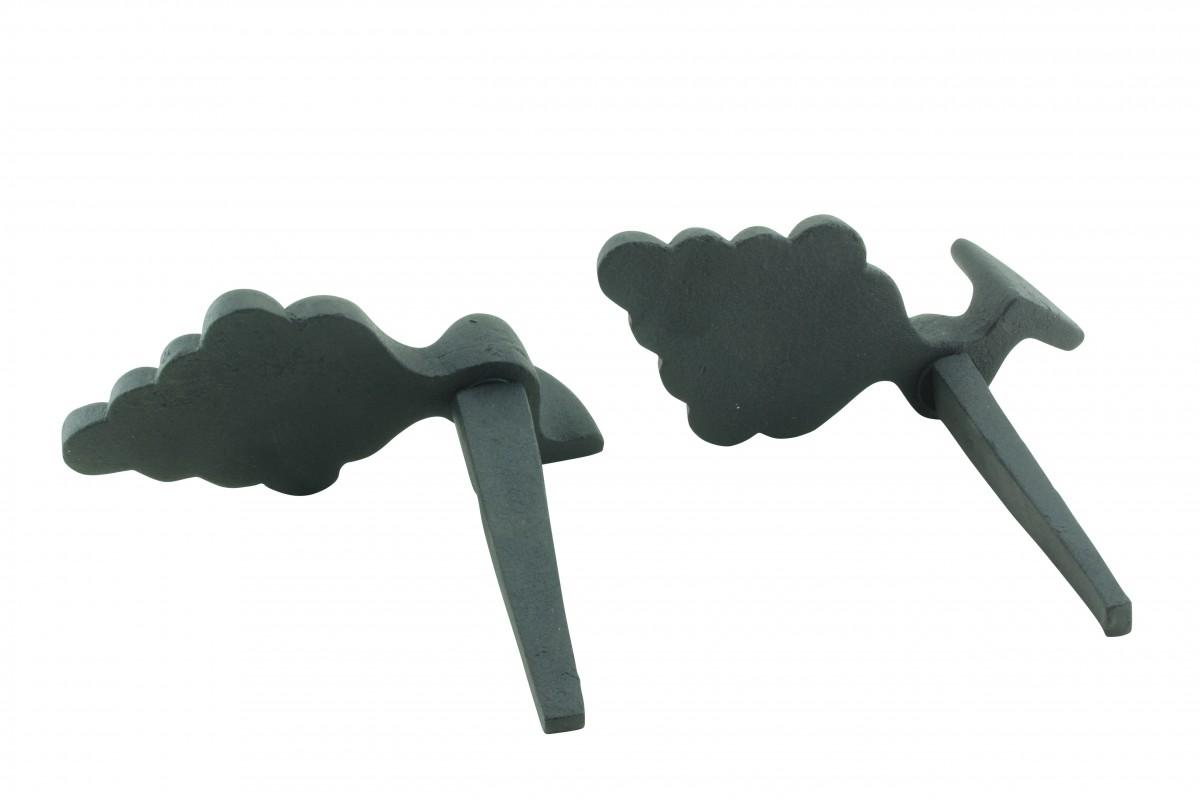 Pair Shutter Dog Wrought Iron Grape Vine Masonry Mount Shutter Dog Shutter Hardware Shutter Dogs