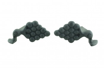<PRE>Pair Shutter Dog Wrought Iron Grape Vine Masonry Mount </PRE>zoom4