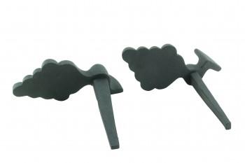 <PRE>Pair Shutter Dog Wrought Iron Grape Vine Masonry Mount </PRE>zoom6