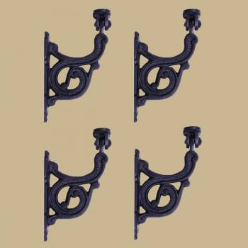 Black RSF Iron Stair Hand Rail Bracket Set Of 4 Hand Rail Brackets Stair Hand Brackets Staircase Hand Rail Bracket