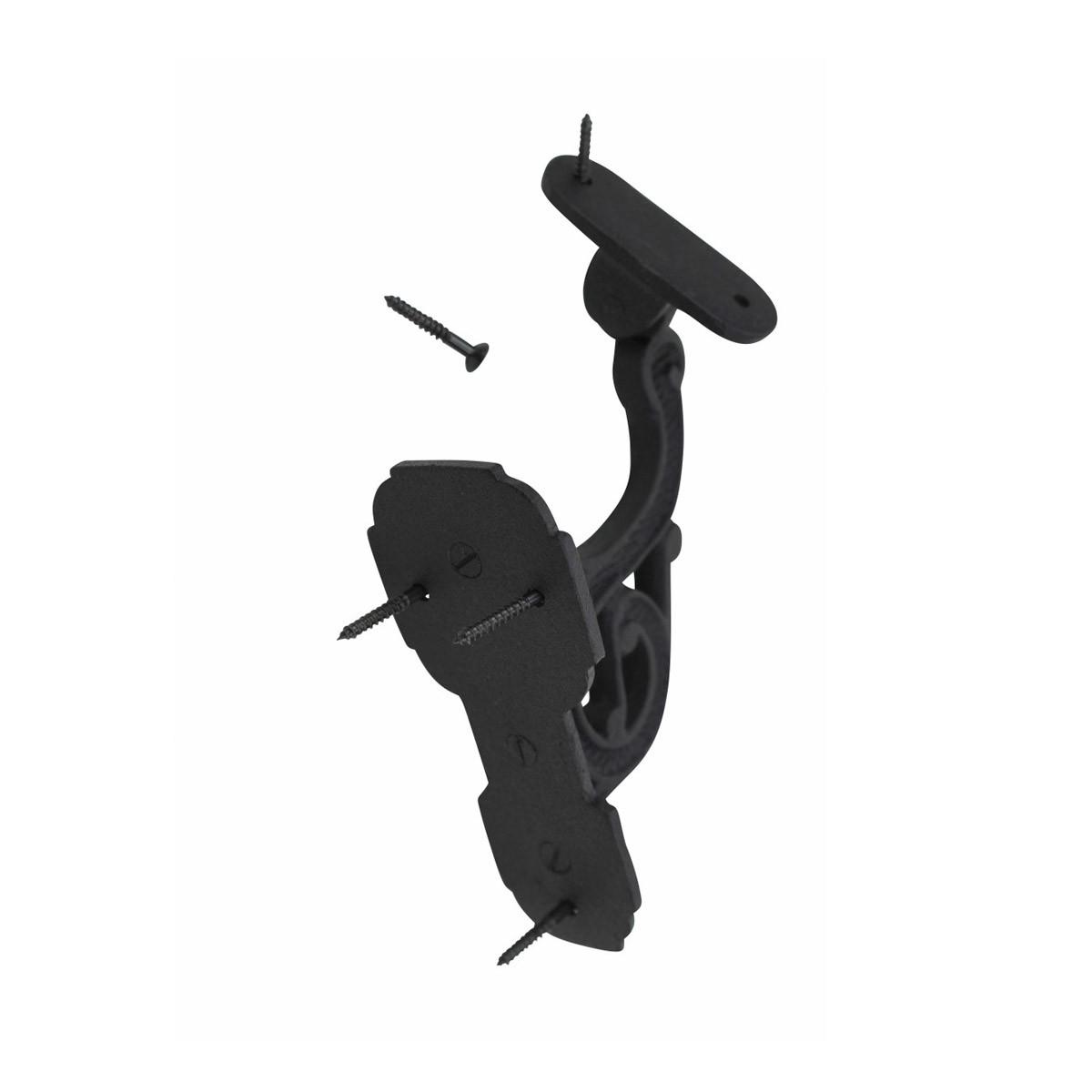 Black RSF Iron Stair Hand Rail Bracket Set Of 4 Hand Rail Brackets Stair Hand Brackets Staircase Hand Rail Bracket