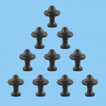 <PRE>Cabinet Knob Black Wrought Iron 1inch Set of 10 </PRE>zoom2