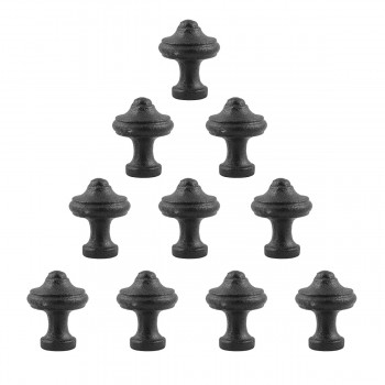 Cabinet Knob Black Wrought Iron 1 Set of 10