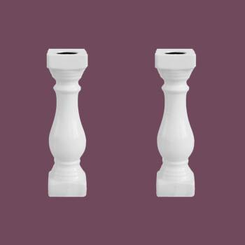 <PRE>Balustrade Part White Ceramic Baluster 20 inch High Set of 2</PRE>zoom2