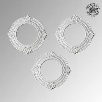 <PRE>Spot Light Trim Medallions 6inch ID Urethane White Set of 3 </PRE>zoom2