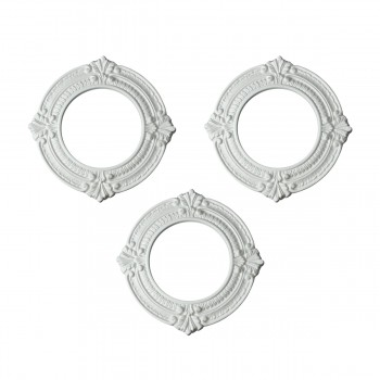 Spot Light Trim Medallions 6 ID Urethane White Set of 3