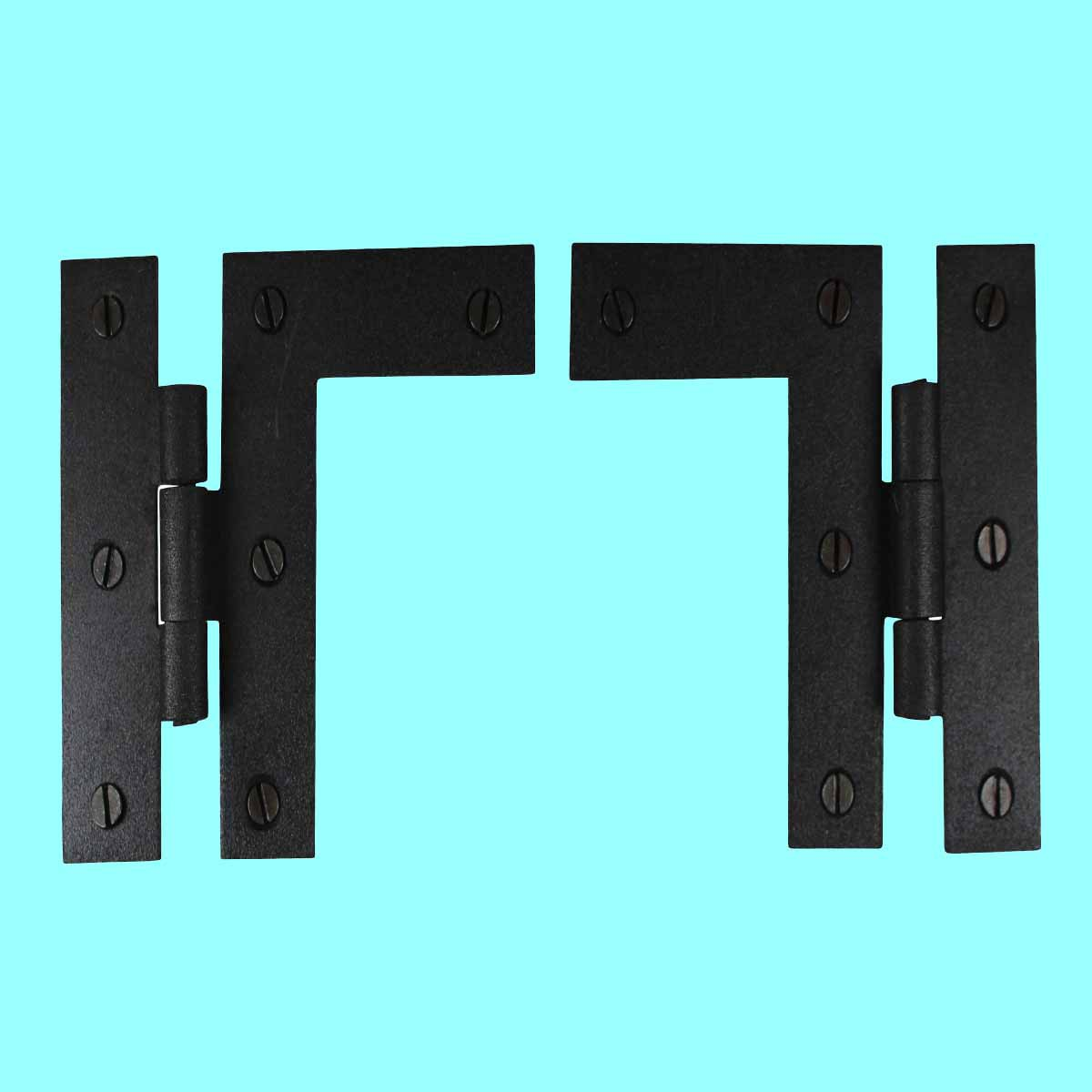 ... U003cPREu003eWrought Iron Cabinet Hinges   Black   Left And Right   Colonial  Style ...