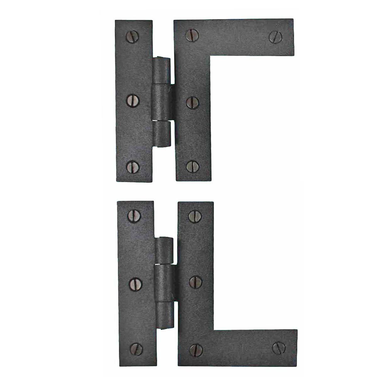 Beau ... U003cPREu003eWrought Iron Cabinet Hinges   Black   Left And Right   Colonial  Style ...