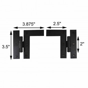 spec-<PRE>Wrought Iron Cabinet Hinges - Black - Left and Right - Colonial Style</PRE>
