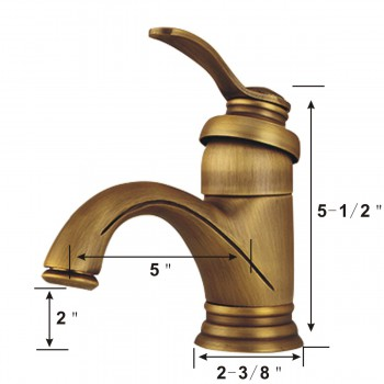 spec-<PRE>Bathroom Single Hole Sink Faucet Antique Brass</PRE>