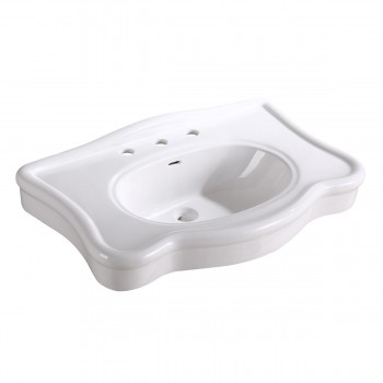 <PRE>Bathroom Console Sink Deluxe Counter Top White Vitreous China </PRE>zoom3