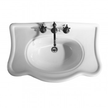 <PRE>Bathroom Console Sink Deluxe Counter Top White Vitreous China </PRE>zoom4