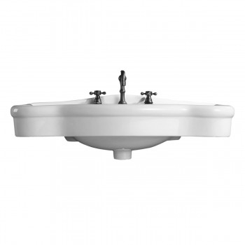 <PRE>Bathroom Console Sink Deluxe Counter Top White Vitreous China </PRE>zoom5