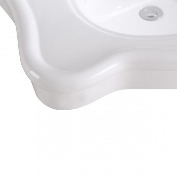 <PRE>Bathroom Console Sink Deluxe Counter Top White Vitreous China </PRE>zoom7
