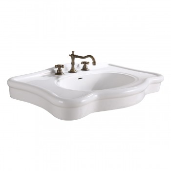 Bathroom Console Sink Deluxe Counter Top White Porcelain26912grid