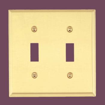 <PRE>Switch Plate Solid Brass DoubleToggle  /Dimmer Wall Plate </PRE>zoom2