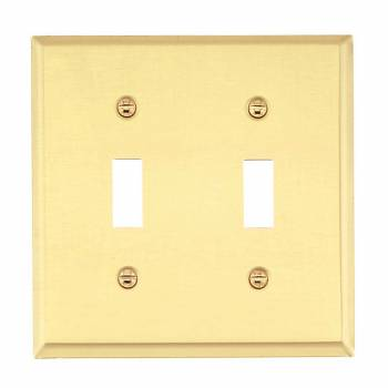 <PRE>Switch Plate Solid Brass DoubleToggle  /Dimmer Wall Plate </PRE>zoom1