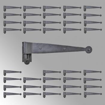 Iron Hinges Black Pintle Hinge Strap Shutter Hinge Offset 1.875 Inch Set of 40