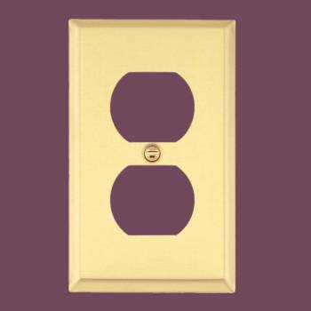Solid Brass Switch Plate Single Gang Outlet Switch Plate Wall Plates Switch Plates