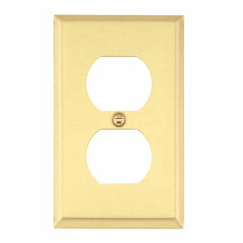 Solid Brass Switch Plate Single Gang Outlet  27010grid