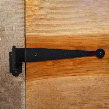 Pintle Hinge Strap For Doors Black Iron Shutter Hinge Offset 2