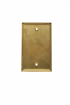 <PRE>Switch Plates Bright Solid Brass Single Blank </PRE>zoom3